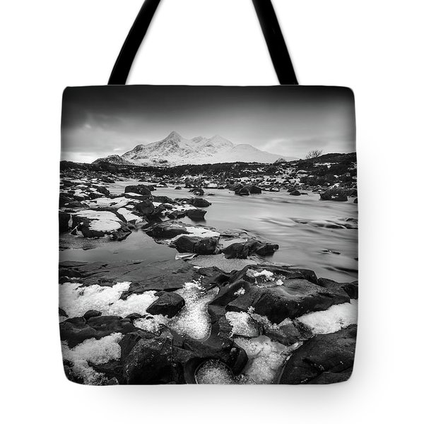 River Sligachan And Black Cuillin, Isle Of Skye Tote Bag