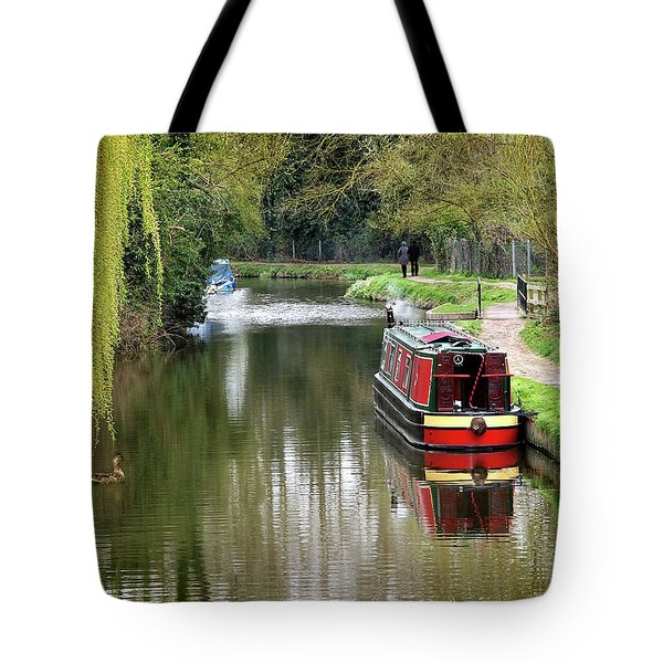 Tote Bag featuring the photograph River Stort In April by Gill Billington