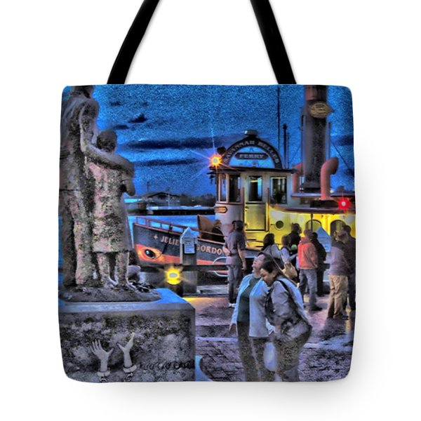 River Street Blues Tote Bag