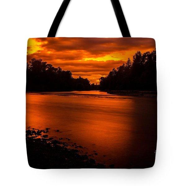 River Sunset 2 Tote Bag