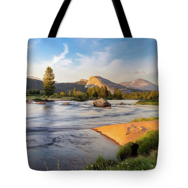 River Sunset  Tote Bag