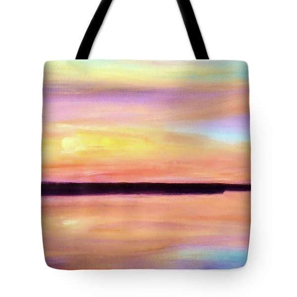 Tote Bag featuring the painting River Sunset by Valerie Anne Kelly