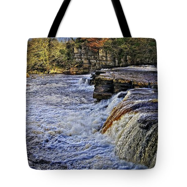 River Swale At Richmond Yorkshire Tote Bag