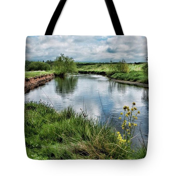 River Tame, Rspb Middleton, North Tote Bag by John Edwards