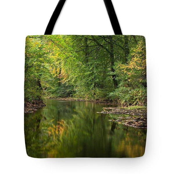 River Teign On Dartmoor Tote Bag