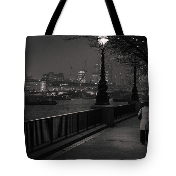 River Thames Embankment, London Tote Bag