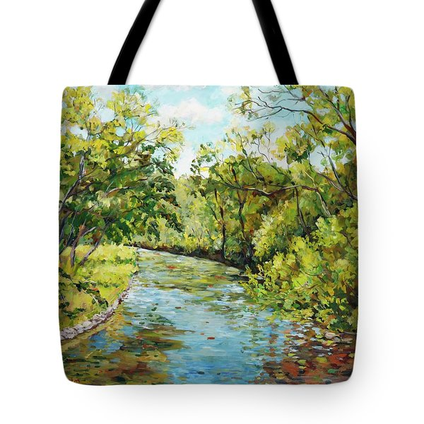 River Through The Forest Tote Bag