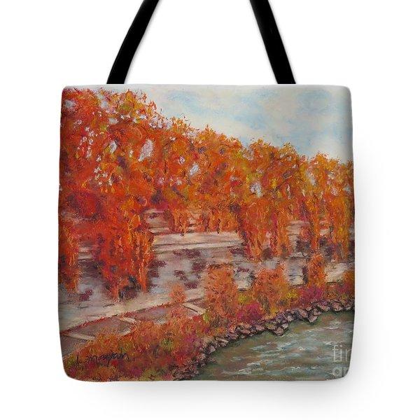 River Tiber In Fall Tote Bag