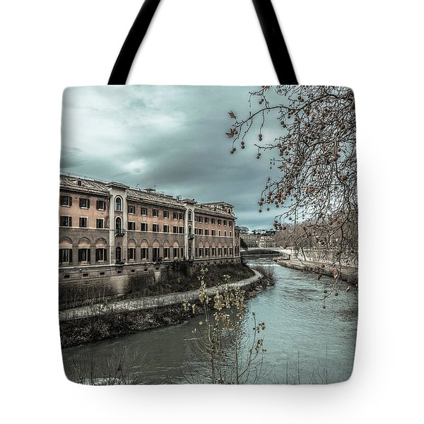 River Tiber Tote Bag by Sergey Simanovsky