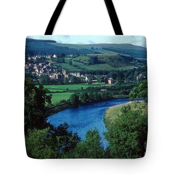 River Tweed And Melrose Tote Bag