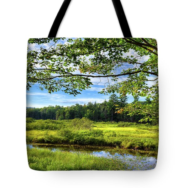 Tote Bag featuring the photograph River Under The Maple Tree by David Patterson