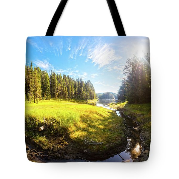 River Valley Tote Bag by Evgeni Dinev