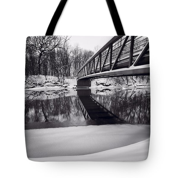 River View B And W Tote Bag