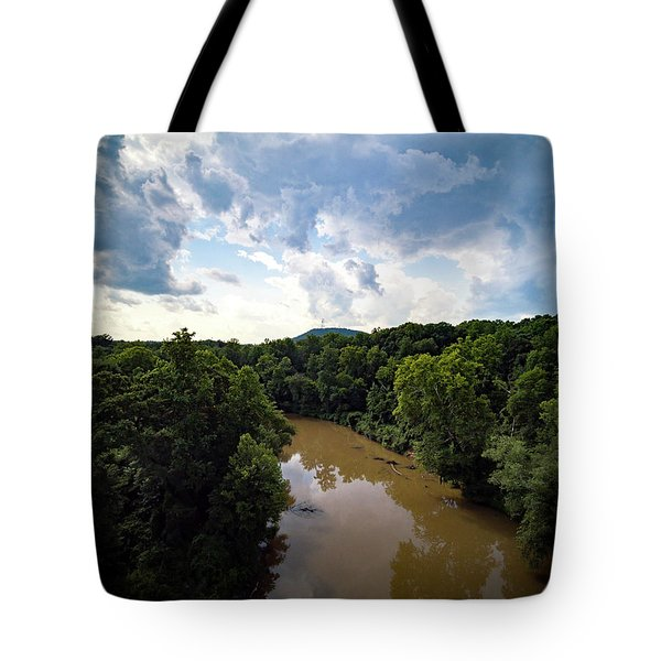 River View From Above Tote Bag