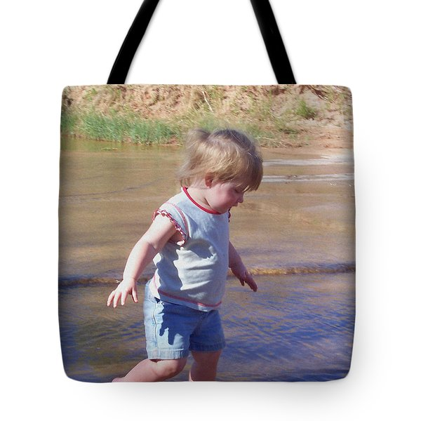 River Wading Tote Bag