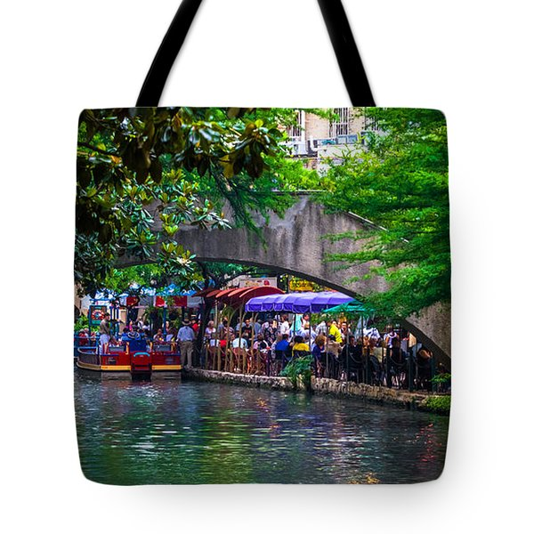 River Walk Dining Tote Bag by Ed Gleichman