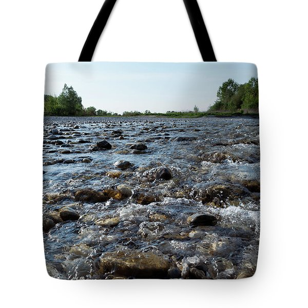 Tote Bag featuring the photograph River Walk by Helga Novelli