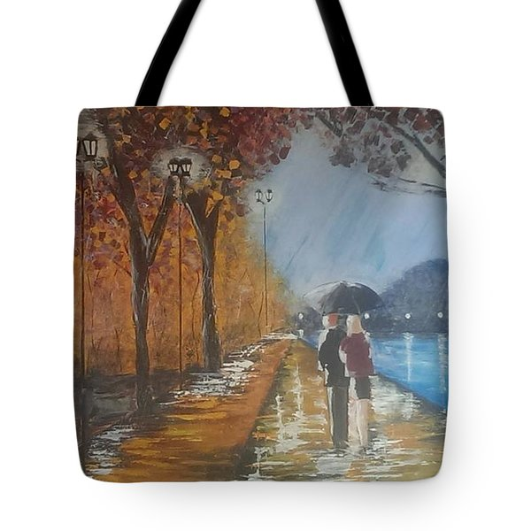 River Walk In Paris Tote Bag by Judi Goodwin