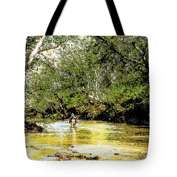 Tote Bag featuring the photograph River Walk by Randy Sylvia
