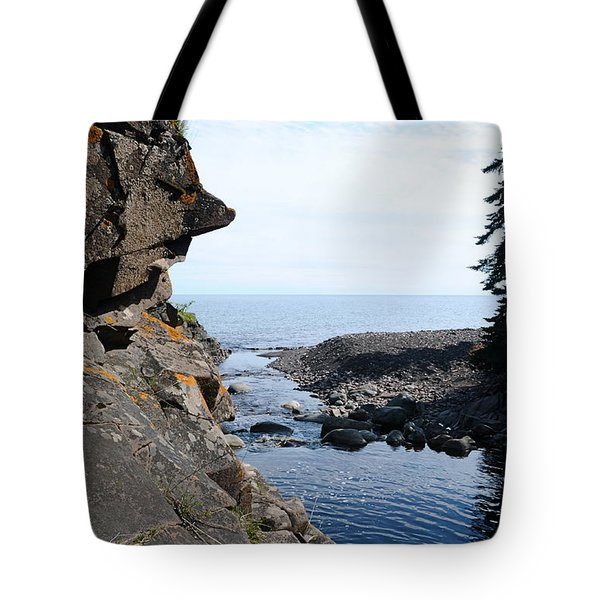 Tote Bag featuring the photograph River Watcher by Sandra Updyke