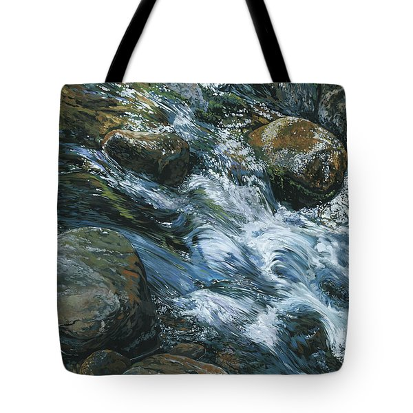River Water Tote Bag by Nadi Spencer
