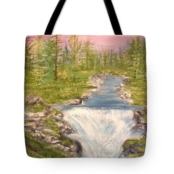 River With Falls Tote Bag
