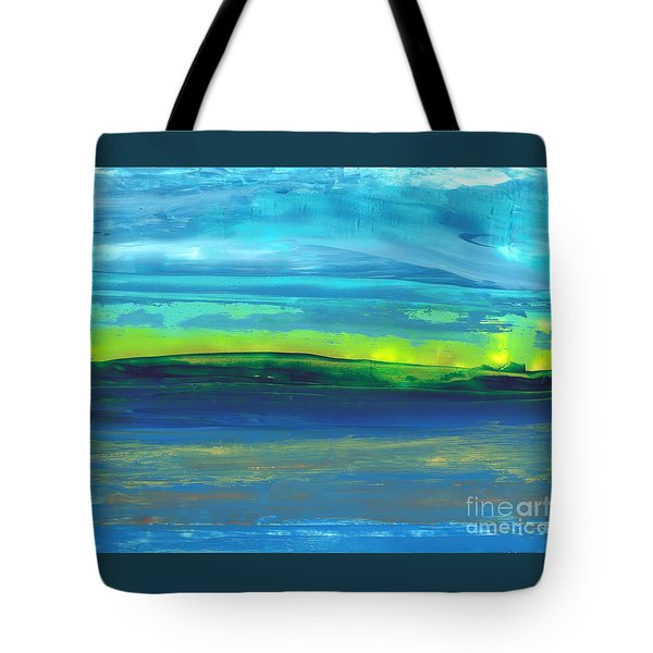 Riverbank Green Tote Bag