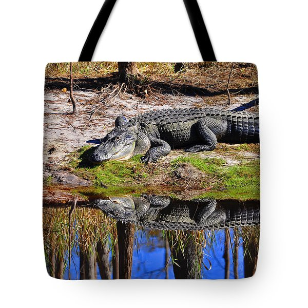 Tote Bag featuring the photograph Riverside Reflection by Al Powell Photography USA
