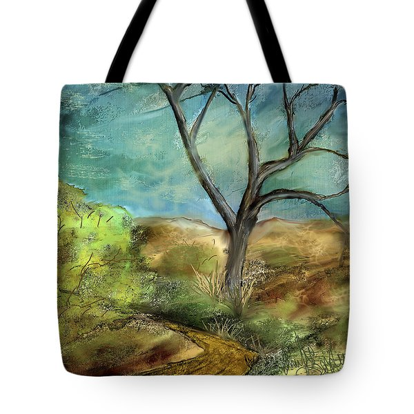 Tote Bag featuring the painting Riverbed  by Annette Berglund