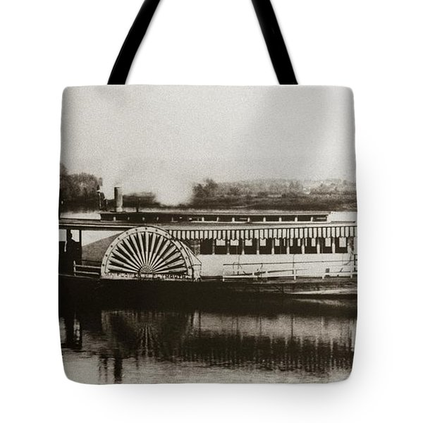 Riverboat  Mayflower Of Plymouth   Susquehanna River Near Wilkes Barre Pennsylvania Late 1800s Tote Bag