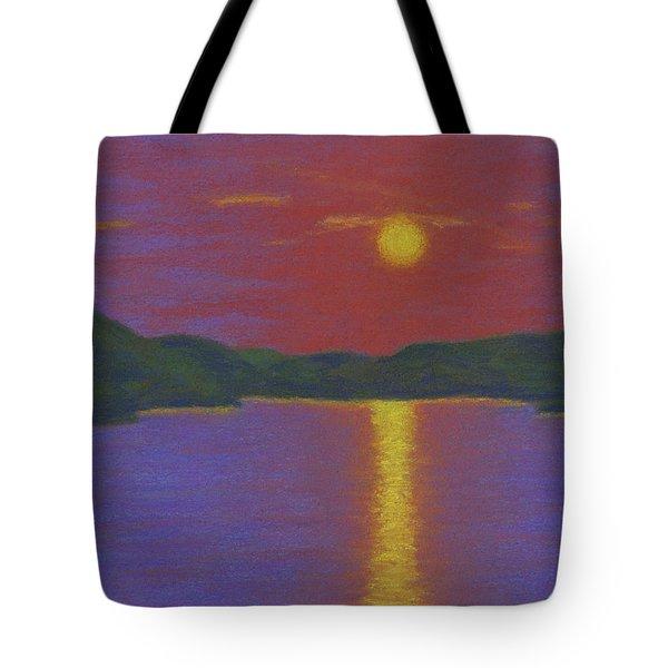 Riverboat Sunset Tote Bag