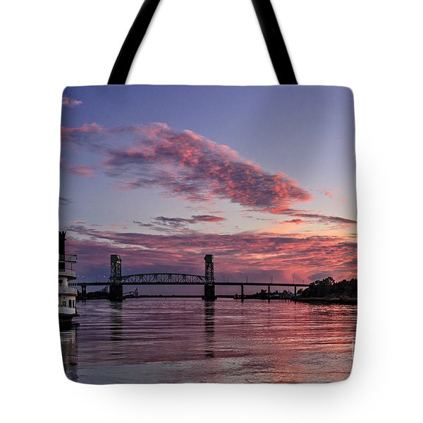 Cape Fear Riverboat Tote Bag