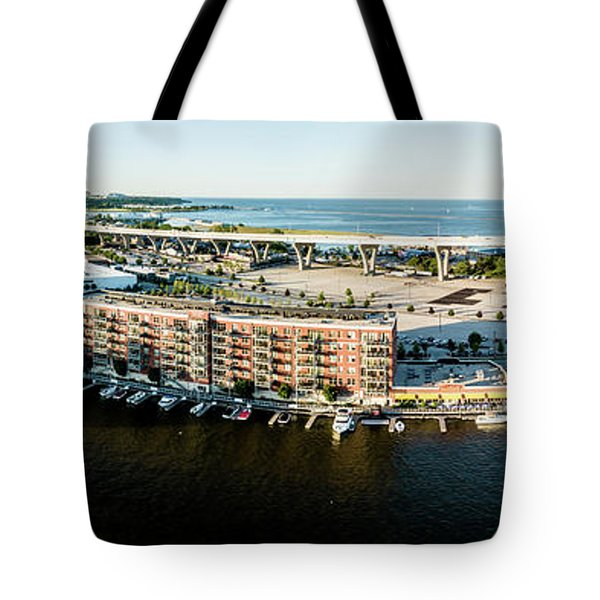 Tote Bag featuring the photograph Riverfront by Randy Scherkenbach