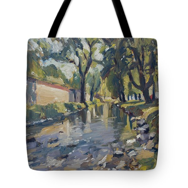 Riverjeker In The Maastricht City Park Tote Bag