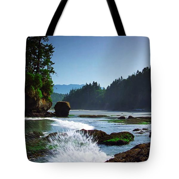 Rivers And Lakes Around Olympic National Park America Tote Bag