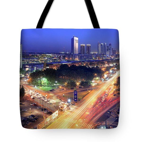 Tote Bag featuring the photograph Rivers Of Light by Bernardo Galmarini