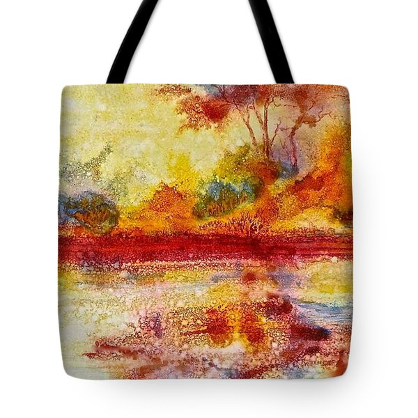 Riverscape In Red....part 2 Tote Bag