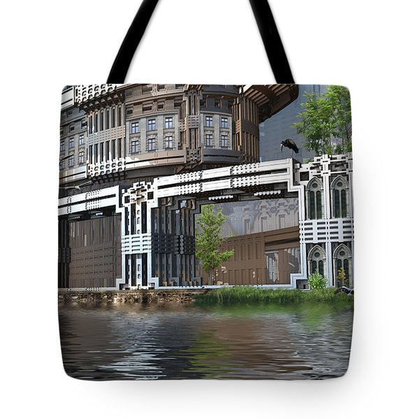 Riverside Apartments Tote Bag