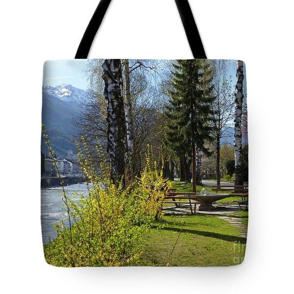Riverside At Lienz  Tote Bag