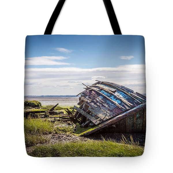 Tote Bag featuring the photograph Riverside Boat. by Gary Gillette