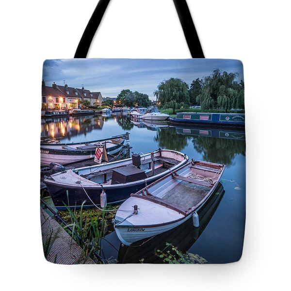 Tote Bag featuring the photograph Riverside By Night by James Billings
