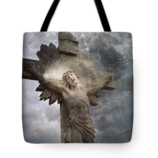 Riverside Cemetery Cross Tote Bag