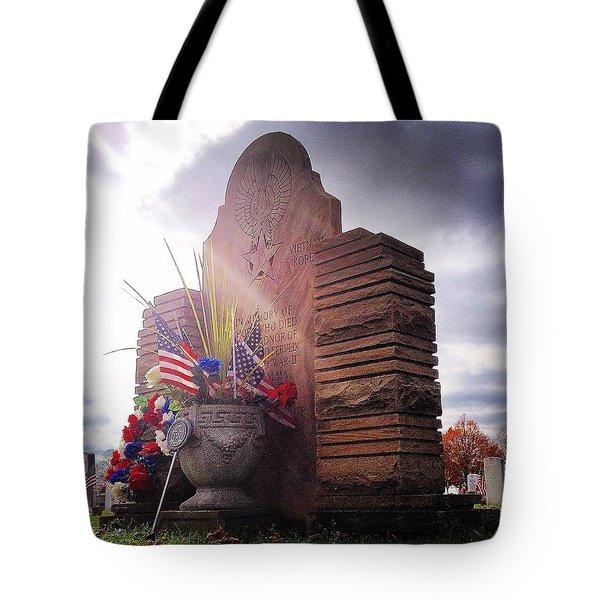 Riverside Cemetery War Memorial Tote Bag