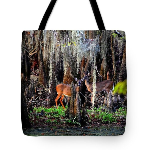 Riverside Deer Tote Bag