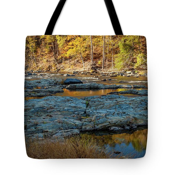 Tote Bag featuring the photograph Riverside by Iris Greenwell