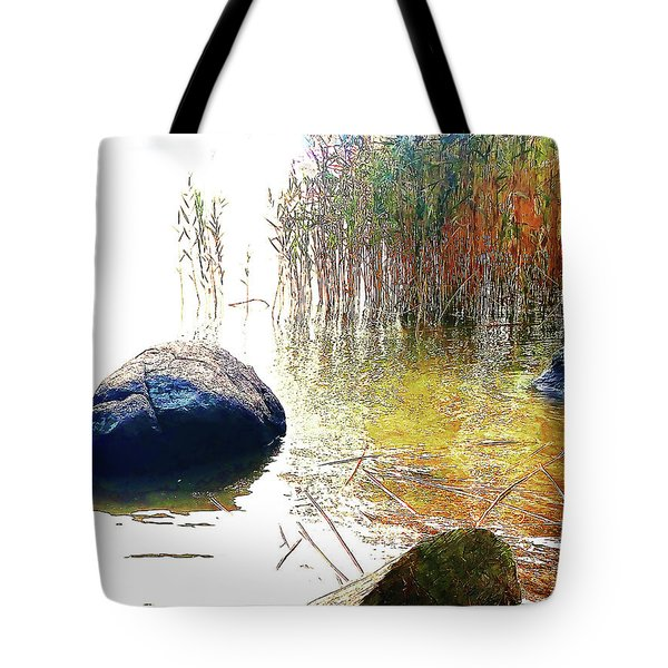 Tote Bag featuring the photograph Riverside Melody by Roger Bester