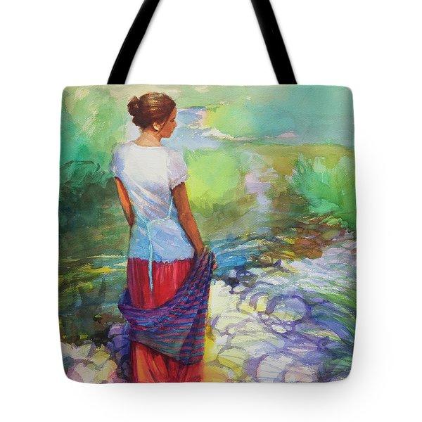 Riverside Muse Tote Bag
