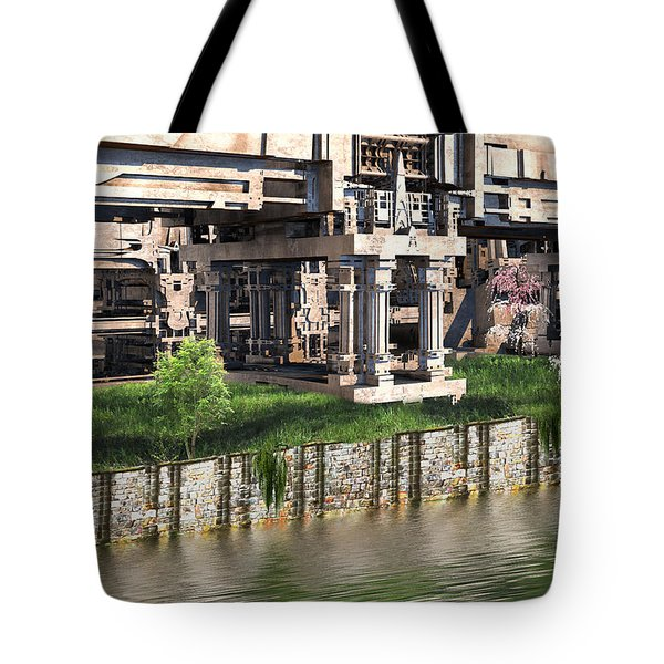 Riverside Pavilion Tote Bag