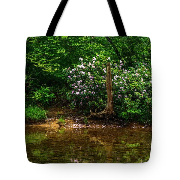 Riverside Rhododendron Tote Bag