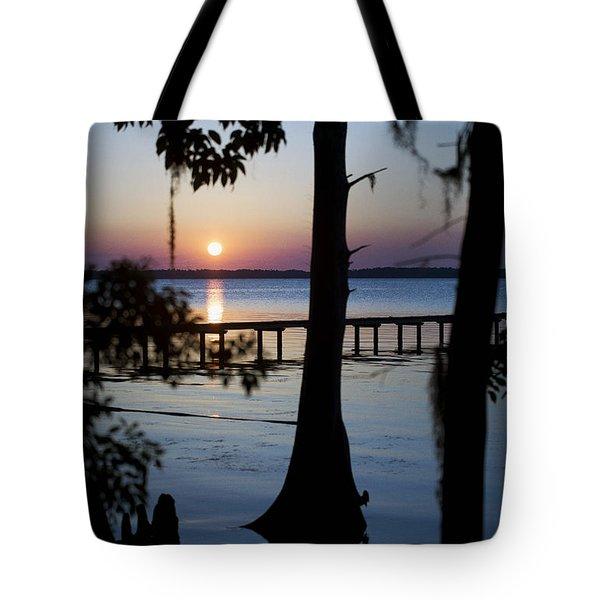 Riverside Sunset Tote Bag